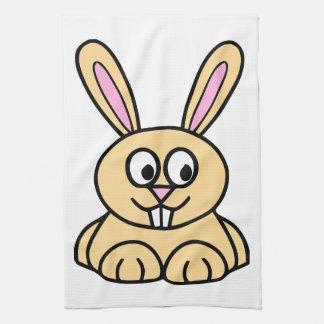 Cute Orange Bunny Rabbit Hand Towel