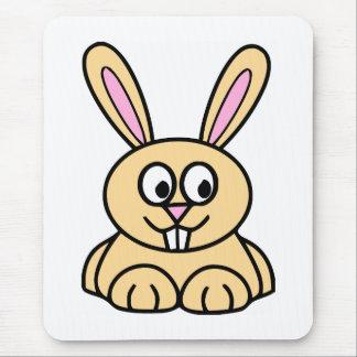 Cute Orange Bunny Rabbit Mouse Pad