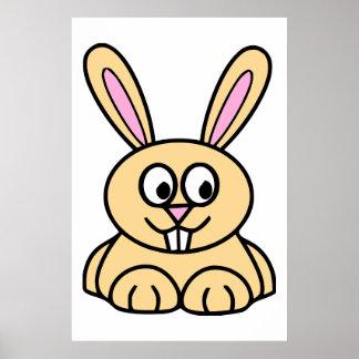 Cute Orange Bunny Rabbit Print