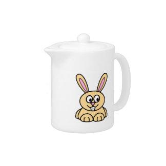 Cute Orange Bunny Rabbit Teapot