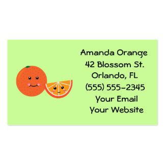 Cute Orange Business Cards