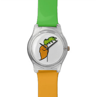 cute orange carrot watches