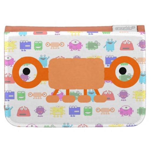 Cute Orange Cartoon Monster Case For Kindle