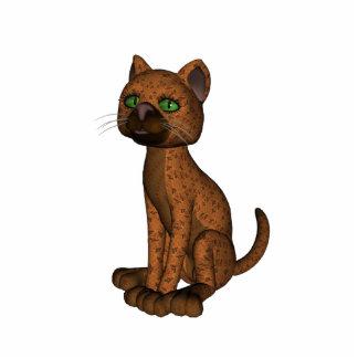 Cute Orange Cat Cutout