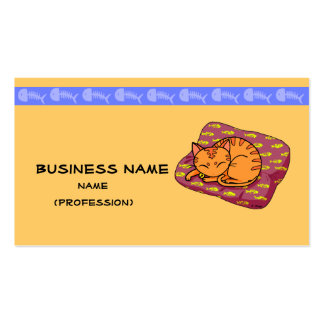 Cute orange cat sleeping Double-Sided standard business cards (Pack of 100)