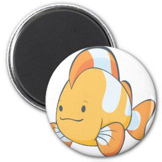 Cute Orange Clownfish Cartoon Shirt 2 Inch Round Magnet