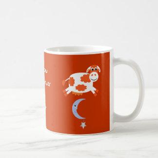 Cute Orange Cows Jumping Over The Moon Coffee Mug