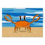Cute Orange Crab Greeting Card