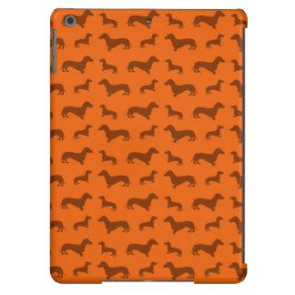 Cute orange dachshund pattern iPad air cover