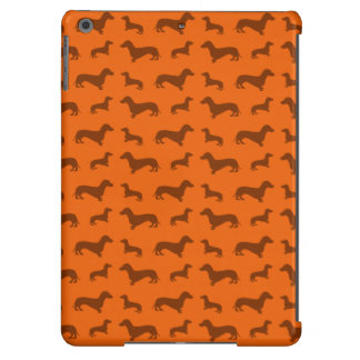Cute orange dachshund pattern iPad air covers