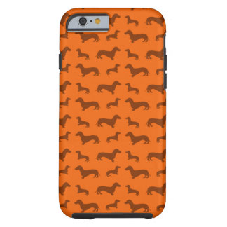 Cute orange dachshund pattern tough iPhone 6 case