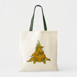 Cute Orange Dragon Baby Tote Bag