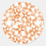 Cute Orange floral sticker
