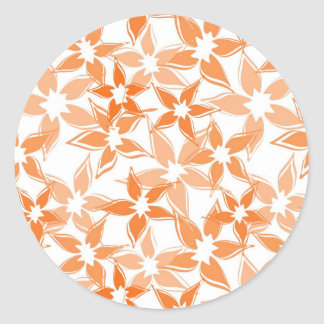 Cute Orange floral sticker