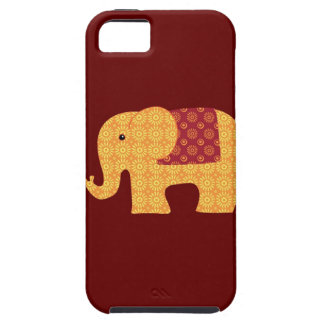 Cute Orange Flower Elephant on Red iPhone SE/5/5s Case