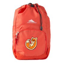 Cute Orange Fox White Belly Drawing Design Backpack