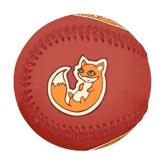 Cute Orange Fox White Belly Drawing Design Baseball