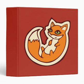 Cute Orange Fox White Belly Drawing Design Binder