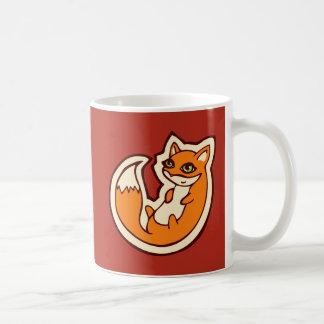 Cute Orange Fox White Belly Drawing Design Coffee Mug