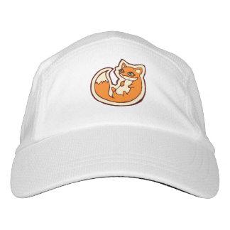 Cute Orange Fox White Belly Drawing Design Headsweats Hat