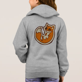 Cute Orange Fox White Belly Drawing Design Hoodie