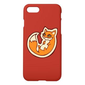 Cute Orange Fox White Belly Drawing Design iPhone 7 Case