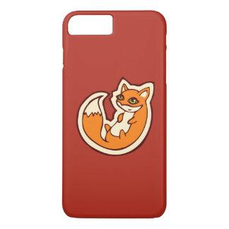 Cute Orange Fox White Belly Drawing Design iPhone 7 Plus Case