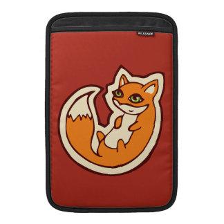 Cute Orange Fox White Belly Drawing Design MacBook Sleeves