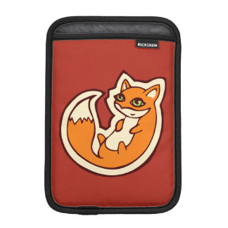 Cute Orange Fox White Belly Drawing Design Sleeve For iPad Mini