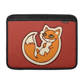 Cute Orange Fox White Belly Drawing Design Sleeve For MacBook Air