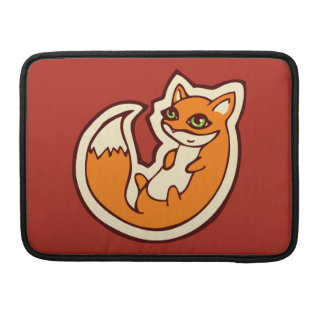 Cute Orange Fox White Belly Drawing Design Sleeve For MacBook Pro