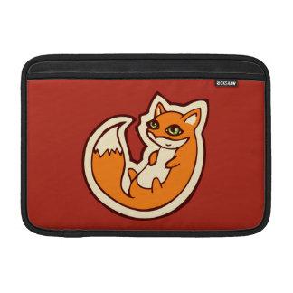 Cute Orange Fox White Belly Drawing Design Sleeves For MacBook Air