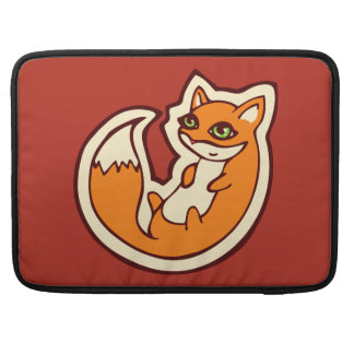 Cute Orange Fox White Belly Drawing Design Sleeves For MacBook Pro