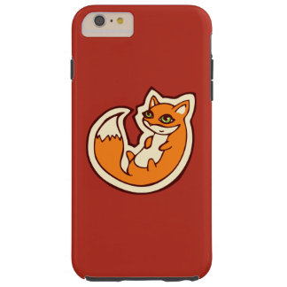 Cute Orange Fox White Belly Drawing Design Tough iPhone 6 Plus Case