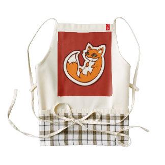 Cute Orange Fox White Belly Drawing Design Zazzle HEART Apron