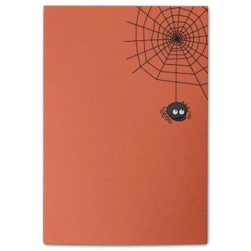 Halloween Themed Cute Orange Halloween Spiderweb Post Its Post-it Notes