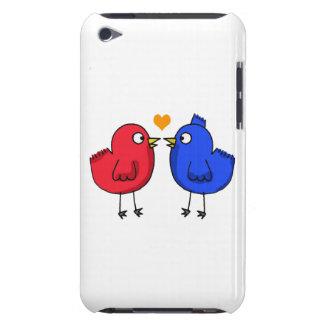 cute orange heart love birds iPod touch covers