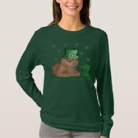 Cute Orange Kitty Cat St. Patrick's T-Shirt