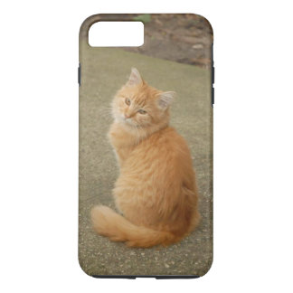 Cute Orange Kitty Photo Tough iPhone 7 Plus Case