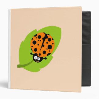 Cute Orange Ladybug Binders