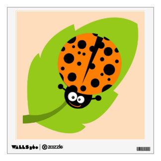 Cute Orange Ladybug Room Decal