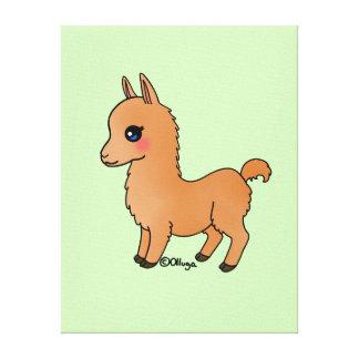 Cute Orange Llama Canvas Print