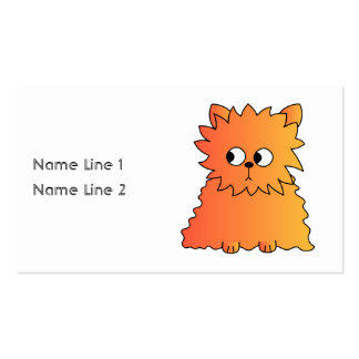 Cute Orange Long Hair Cat. Business Card