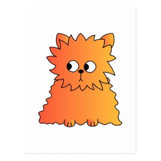 Cute Orange Long Hair Cat. Postcard