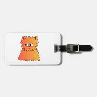 Cute Orange Long Hair Cat. Tag For Luggage