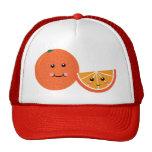 Cute Orange Mesh Hats