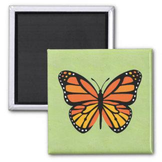 Cute Orange Monarch Butterfly Background Pattern Fridge Magnet