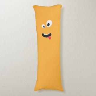 Cute Orange Monster Body Pillow