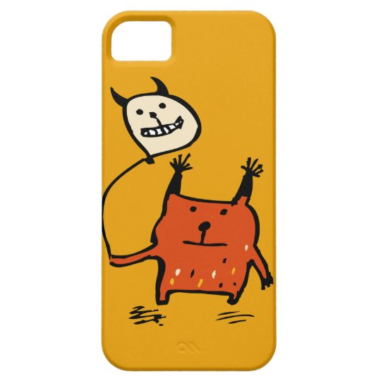 Cute Orange Monster iPhone 5 Case