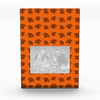 Cute orange mushroom pattern acrylic award